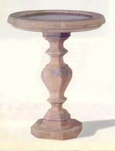 image of a classical birdbath