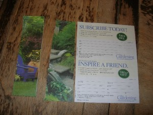 image of magazine subscription card