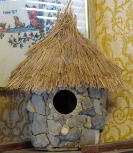 image of stone birdhouse made by Talitha