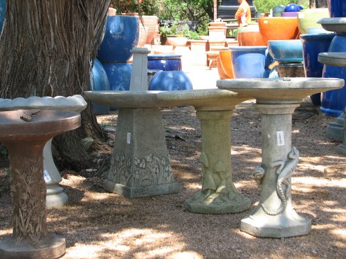 Image of a selection of birdbaths