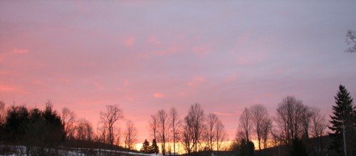 Image of winter sunrise from the southeast