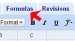 Figure 1. Click on the Formulas tab