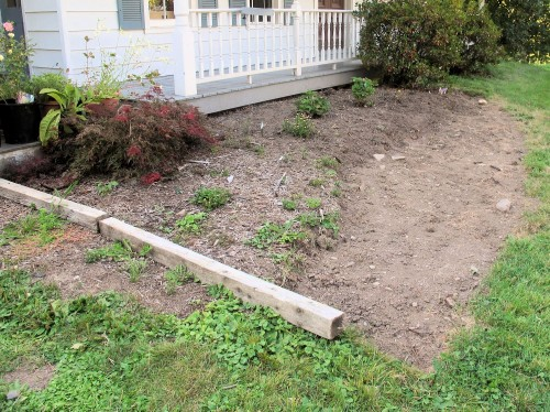 Remove sod from the expanded garden bed