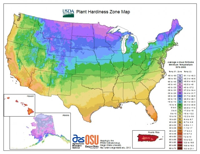 National hardiness map