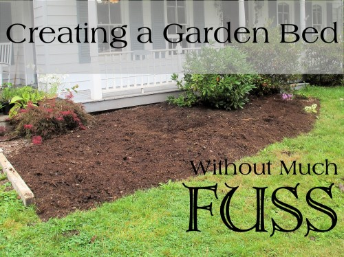 Creating a Garden Bed Without Much Fuss