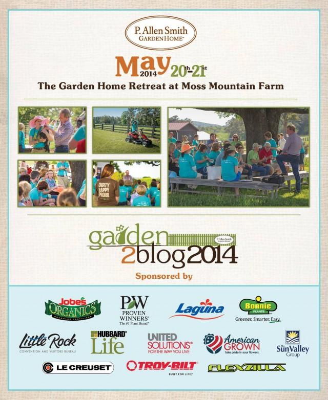 Garden to Blog poster