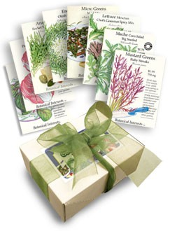 gourmet greens seed collection from botanical interests