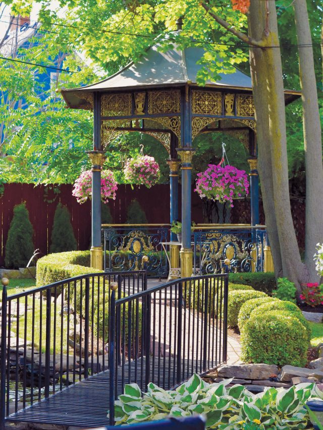 gazebo in Buffalo garden