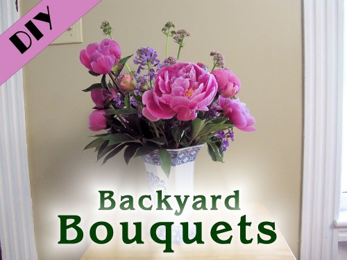 Learn how to make bouquets from flowers in your backyard!
