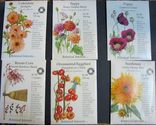 Botanical Interests sent me these seeds to trial in the garden