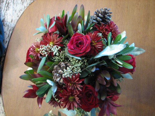 Bouquet viewed from top