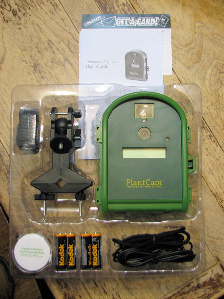 Contents of PlantCam box