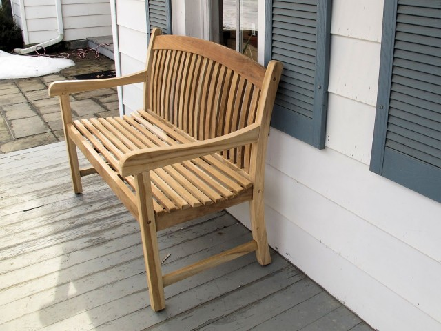 Teak bench from teak closeouts