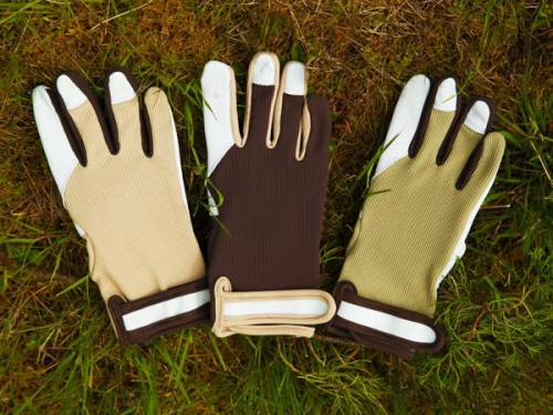 goat skin flexible garden gloves