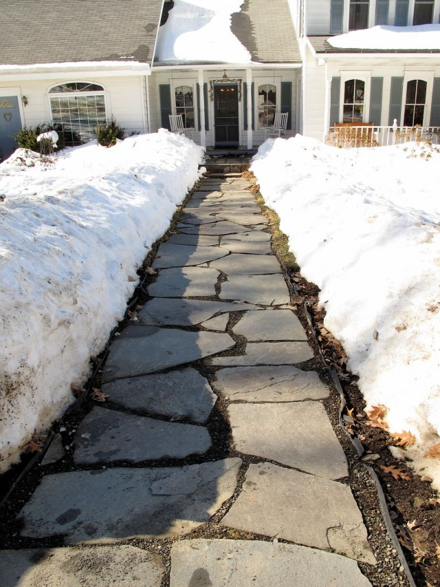 front walk melting progress