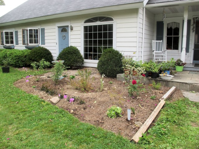 Newly created flower bed
