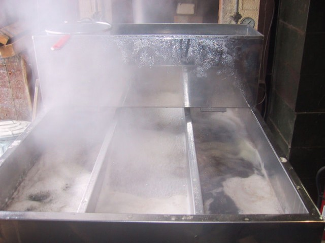 maple syrup evaporator front view
