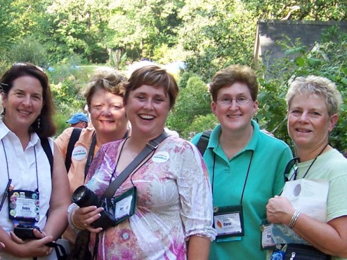Debra Prinzing, Mary Ann Newcomer, Dee Nash, Carol Michel, Cindy Tournier. Photo courtesy Anna Looper