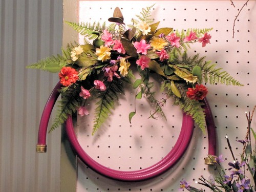 hose wreath Rochester garden show Flowers by Kate