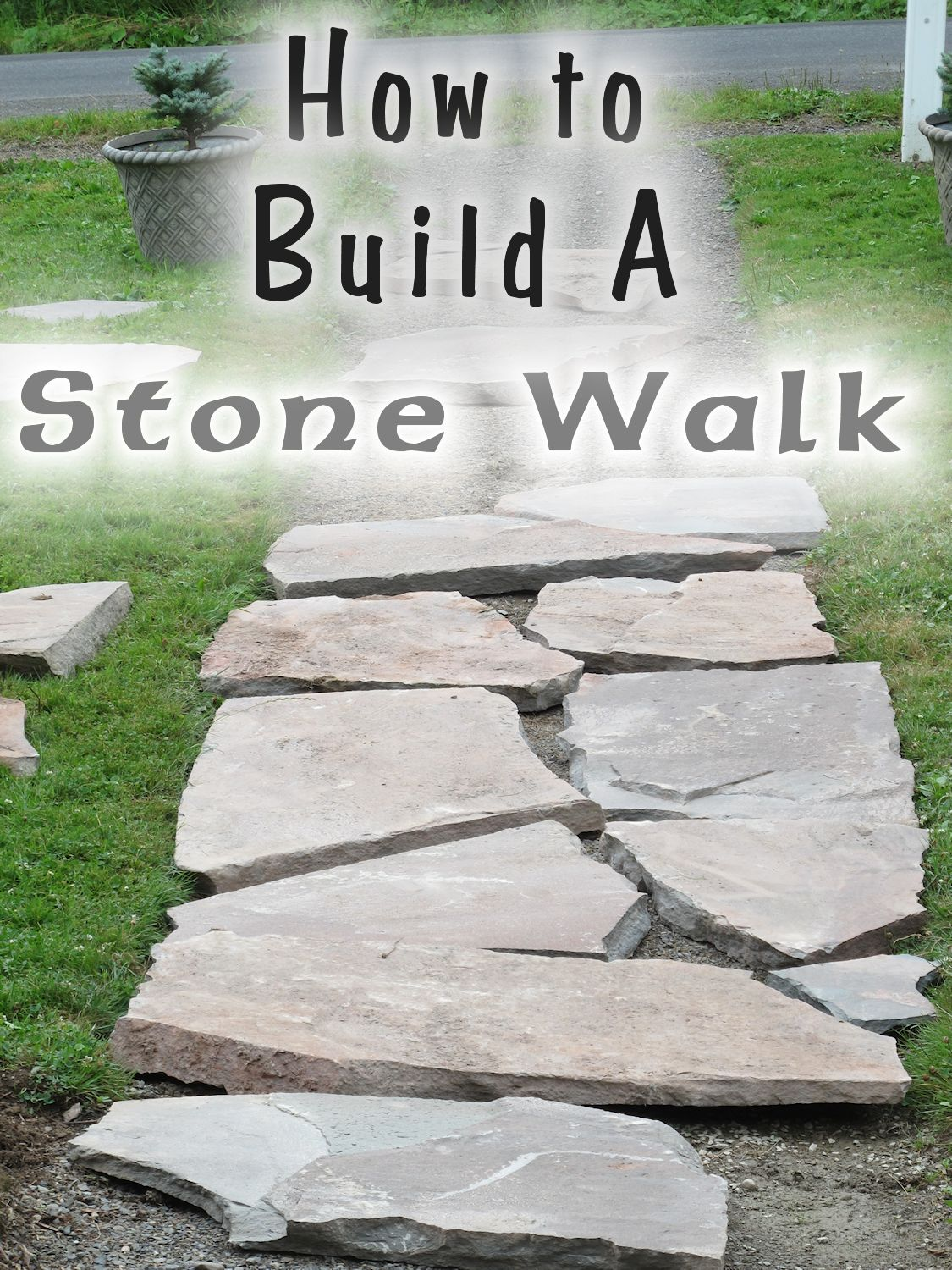 Stone puzzle the front walk emerges for How to build a stepping stone path