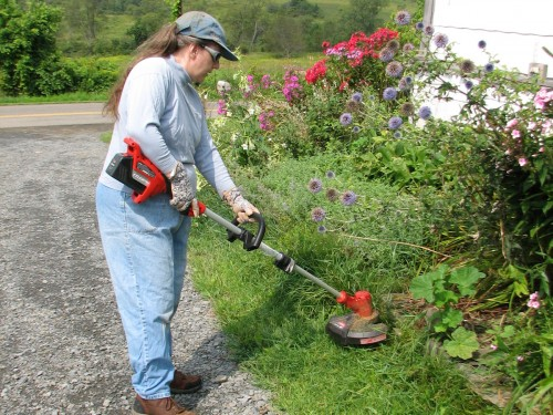 Yes! I am operating a string trimmer for the first time!