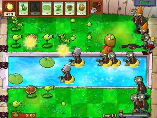Screenshot from the swimming pool level. (Courtesy PopCap Games)