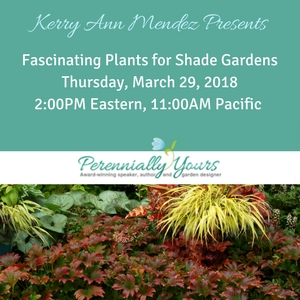 Kerry Mendez Fascinating Plants for Shade webinar
