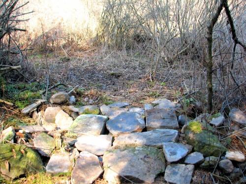 rocks laid on the ground