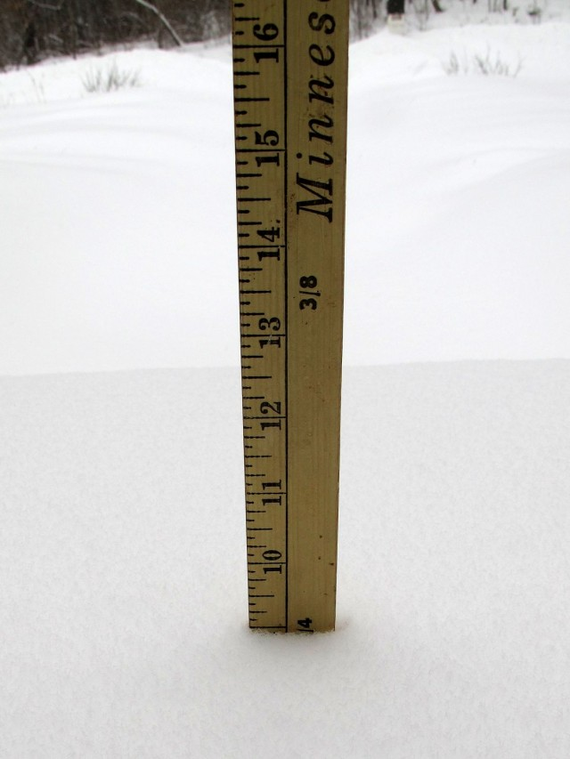 yardstick measuring snowfall