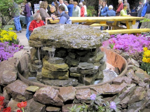 stone fountain from Rochester garden show