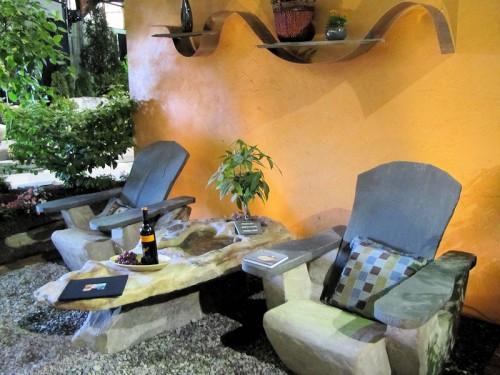 Stone adirondack chairs