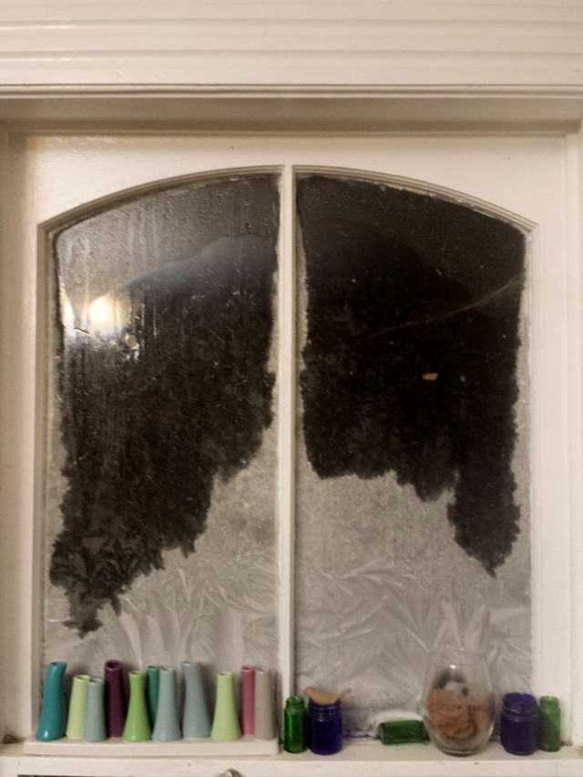 subzero cold frosted window