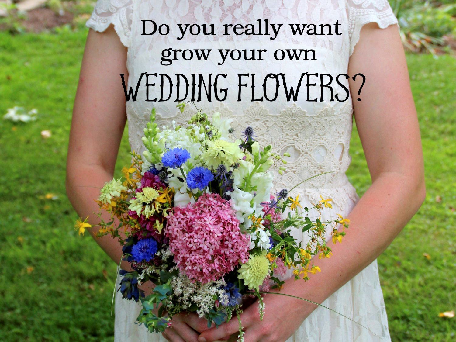 do you really want to grow your own wedding flowers