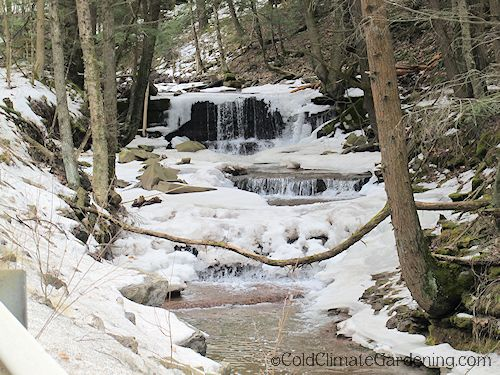Wintry waterfall upstate NY