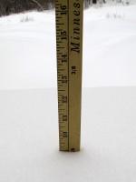 yardstick measuring snowfall